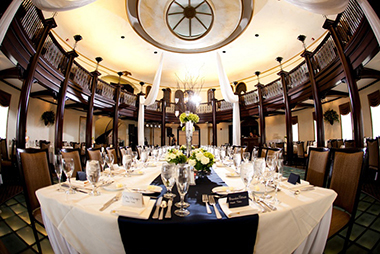 dining table in banquet hall