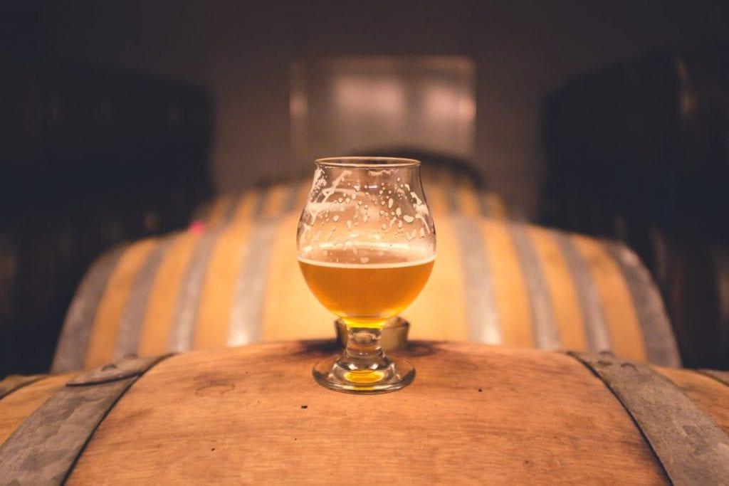 beer on barrel