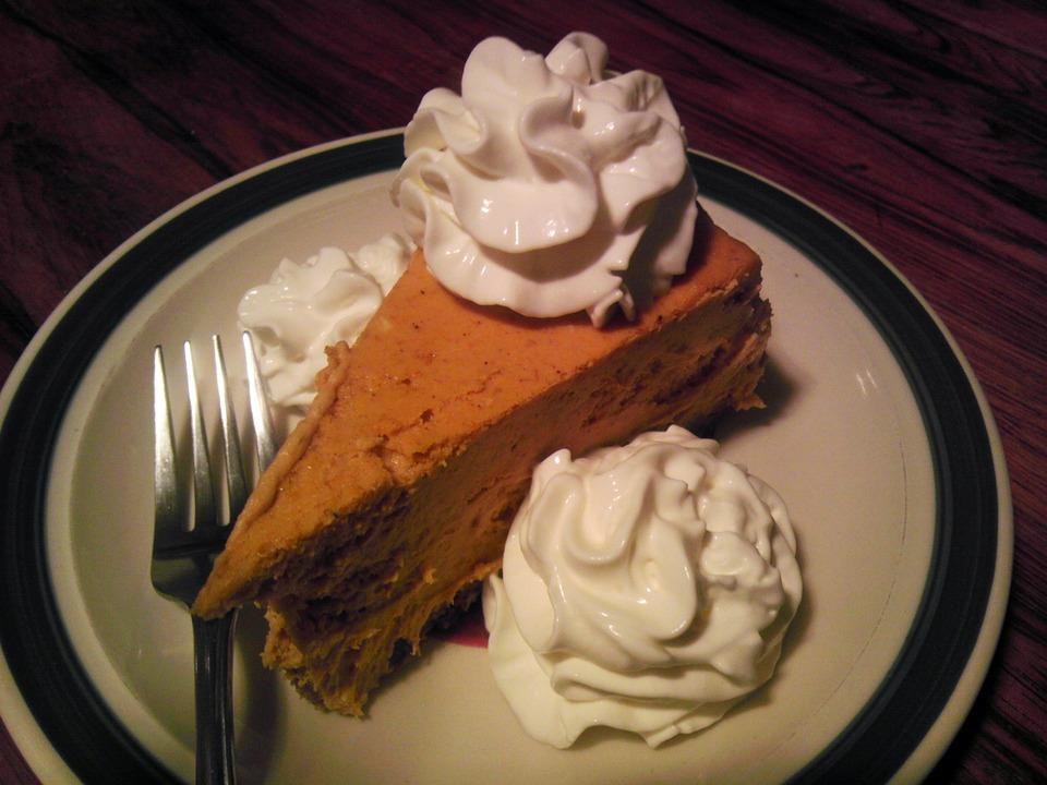 pumpkin pie on plate