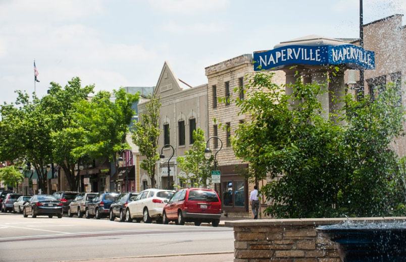 Street in downtown Naperville