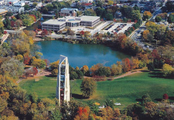 Overhead view of Naperville carillon