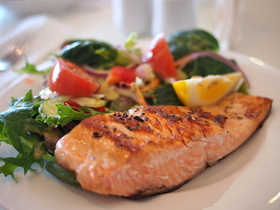 salmon food on plate