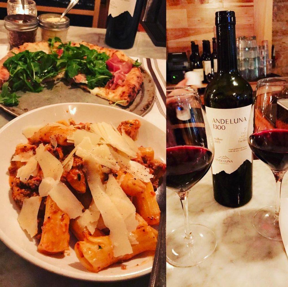 Gia Mia pasta and wine