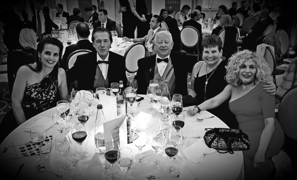 Bill & wife, Joan Caton (2nd & 3rd from left) pictured here at the FIABCI Gala Dinner during the MIPIM 2018 Conference in Cannes, France.
