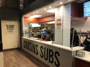 Cousins Subs in chicago loop caton commercial inside